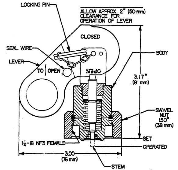 Dump Body Lever Actuated Switch : Lever or pressure operated control head cont