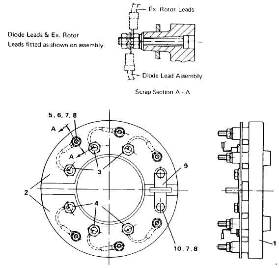 fig  13 rotating rectifier assembly